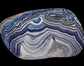 3D model Agate gem blue 46