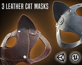 Leather cat mask - 3D VR AR game ready game-ready 2