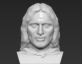 Aragorn bust Lord of the Rings 3D printing ready stl obj