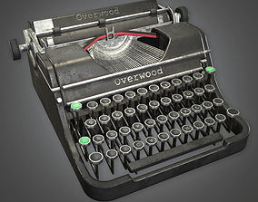 Typewriter Antiques - PBR Game Ready 3D model