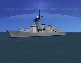 Takanami Class Destroyer Suzunami 3D model