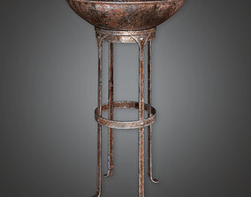 realtime Ancient Fire Holder Torch 01 TRS - PBR Game Ready
