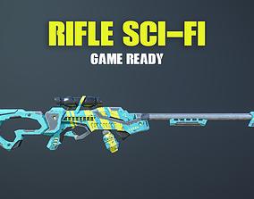 Rifle Sci-Fi Game Ready 3D model