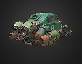 Rocketwagen gameready model low-poly