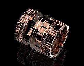 Modern Ring rings wheel 3D print model