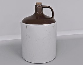 Antique Stoneware Jar 3D