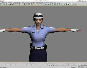 Detailed Police Woman 3D model