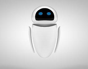 3D model game-ready Eve Robot - Wall-E