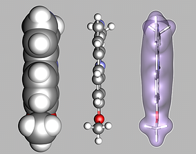 Harmine molecule 3D
