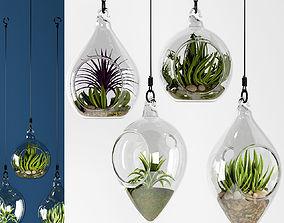 Hanging bowl vase 4 3D model