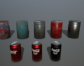 3D asset VR / AR ready coke can
