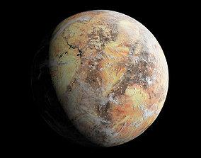 3D model Desert Planet - Dune - Tatooine - Alien Planet 8k