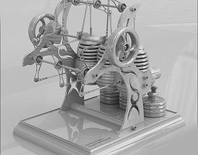 3D model stirling engine