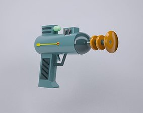 3D asset Lazer Weapon from Rick and Morty