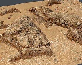 Photoscan Beach Rock 0001 only HighPoly Mesh 16K 3D