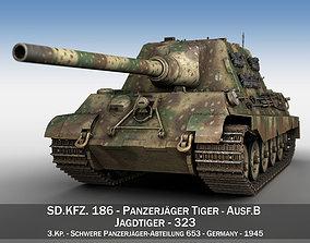 military SDKFZ 186 Jagdtiger - 323 3D model