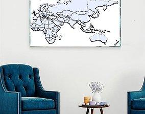 WORLD MAP FOR TRAVELLERS 3D print model