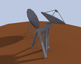 3D asset Low Poly Antenna Dish