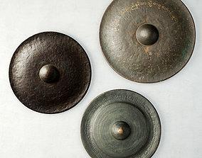 3D model 19th Century Laos Bronze Gongs