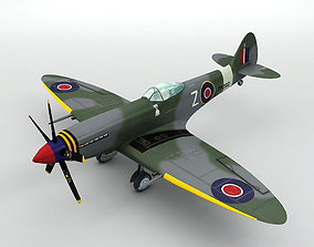 Supermarine Spitfire MK XVIII Aircraft 3D asset realtime
