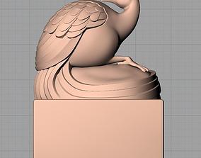 3D Animal Sculpture Model Peacock seal A032