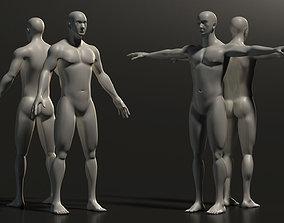 Base Mesh Man - Full Detailed 3D model realtime