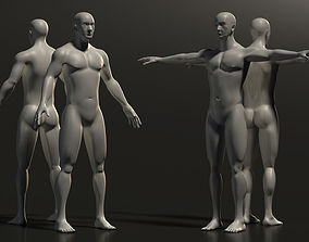 Base Mesh Man - Full Detailed 3D model realtime