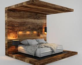 3D Wood Bed