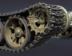 3D T-55 Tank Chassis