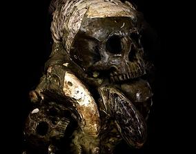 3D asset AMMONITE FOSSILS Carved Skulls
