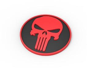 3D printable Punisher emblem