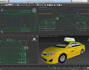 NYC taxi 2013 3D asset