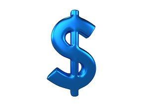 3D model Dollar Symbol v2 008