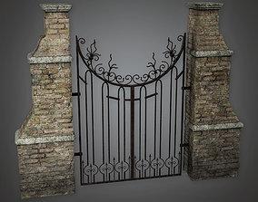 Outdoor Gate 01 GFS - PBR Game Ready 3D asset