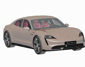 interior Porsche Taycan 2020 3D Model