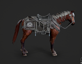 Warhorse of Ancient Chinese cavalry 3D asset
