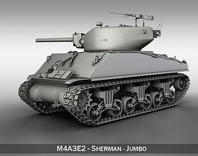 3D model M4A3E2 - Sherman - Jumbo