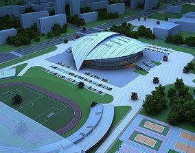3D model Soccer Stadium 002