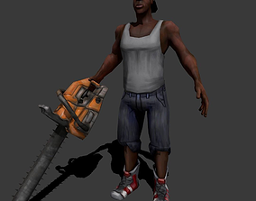 Chainsaw Guy 3D asset