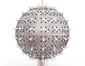 3D model Christmas One Times Square ball