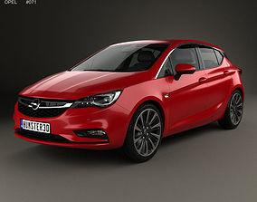 2019 Opel Astra K 2016 3D model