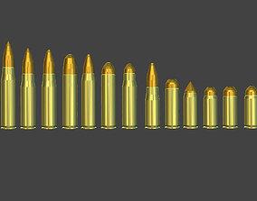 Bullet Pack Low-poly 3D