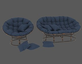 pick Blue Sofa 3D model