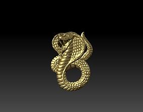 3D print model Snake pendent