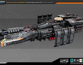 Federation Frigate K8 3D asset