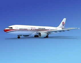 3D model Airbus A300 China Eastern