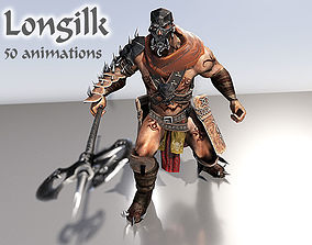 3D model animated Longilk Barbarian