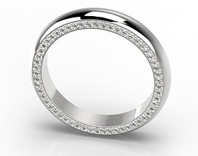 3D printable model Engagement classic ring 10 sizes