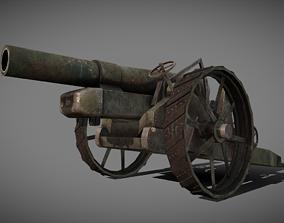 3D asset BL 8-inch howitzer Mark-VI