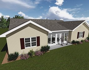 3D model Single Story Home Addition